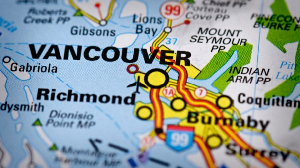 Vancouver, Canada map